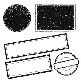 Selos do grunge do vetor sem texto. conjunto de selos.