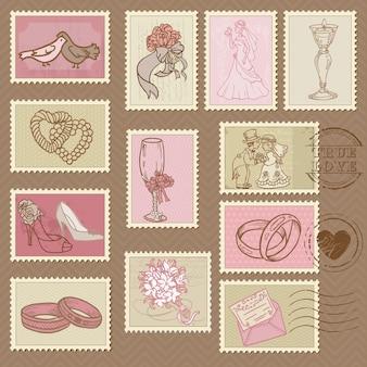 Selos postais de casamento