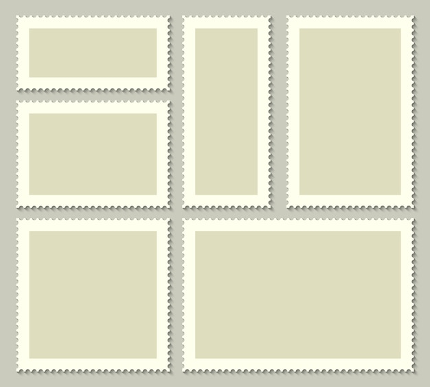Selos postais em branco para correio