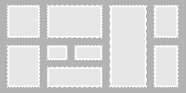 Selos postais. ilustração de selos postais em branco claro