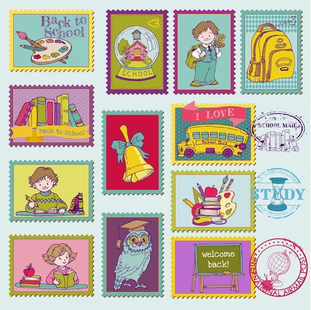 Selos postais para bebês