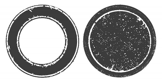 Selos redondos de grunge