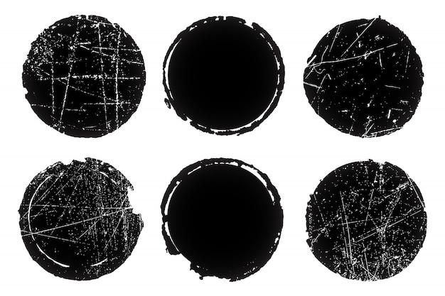 Selos texturizados grunge