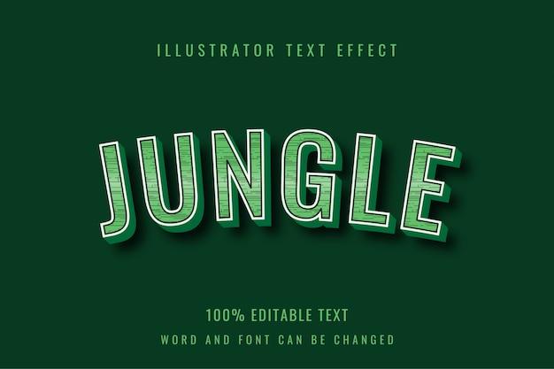 Selva - design de efeito de texto editável