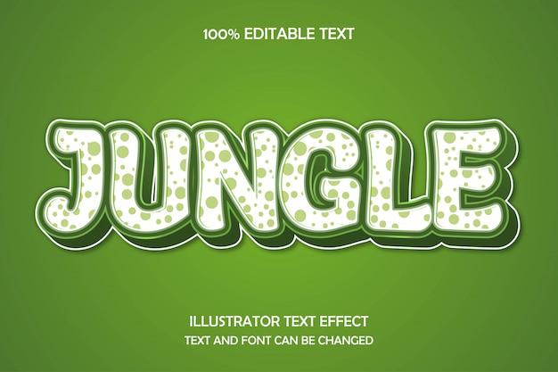 Selva, efeito de texto editável 3d estilo moderno sombra