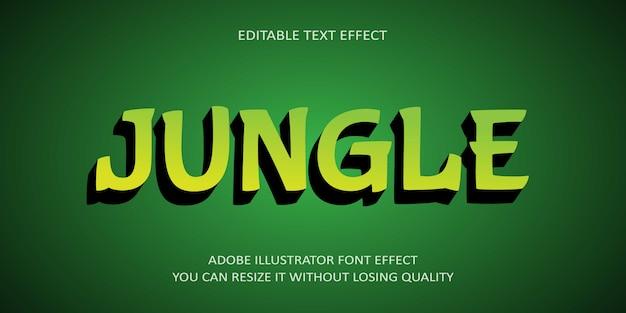 Selva texto editável efeito