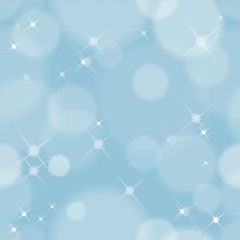Sem costura abstrato de natal com luzes brilham com bokeh suave