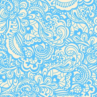 Sem costura abstrato desenhados à mão padrão