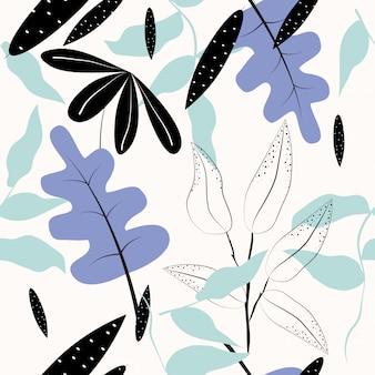 Sem costura abstrato floral superfície de fundo vector