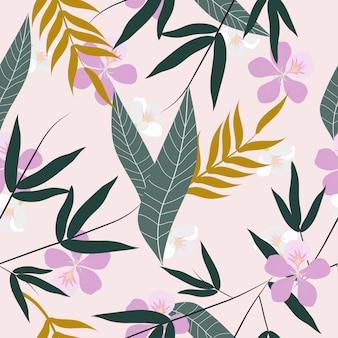 Sem costura abstrato floral superfície padrão de fundo