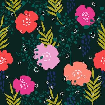 Sem costura colorida floral superfície de fundo