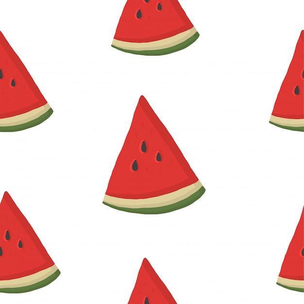 Sem costura com fatias de melancia