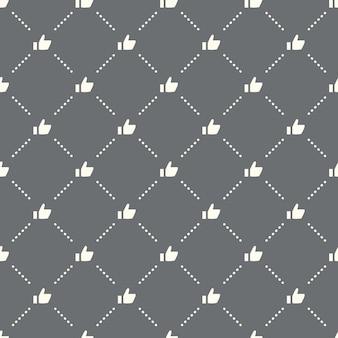 Sem costura como padrão em um fundo escuro. como ícone de design criativo. pode ser usado para papel de parede, fundo de página da web, têxtil, impressão ui / ux