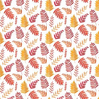 Sem costura de fundo vector com folhas. textura botânica.