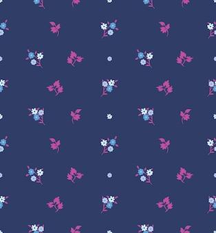 Sem costura floral com padrão de pequenas flores.