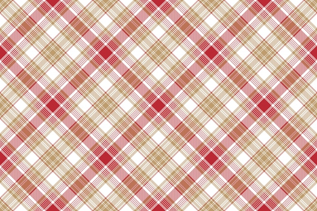 Sem costura fundo bege vermelho branco xadrez