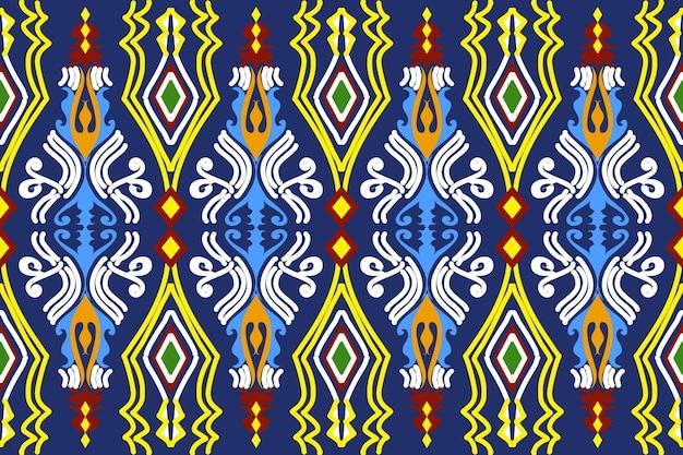 Sem costura geométrica étnica asiática oriental e padrão de tradição para textura e base