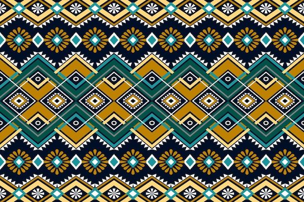 Sem costura geométrica étnica oriental asiática e design de padrão de tradição para textura e bachground. decoração de padrão de seda e tecido para carpetes, roupas, férias de natal.