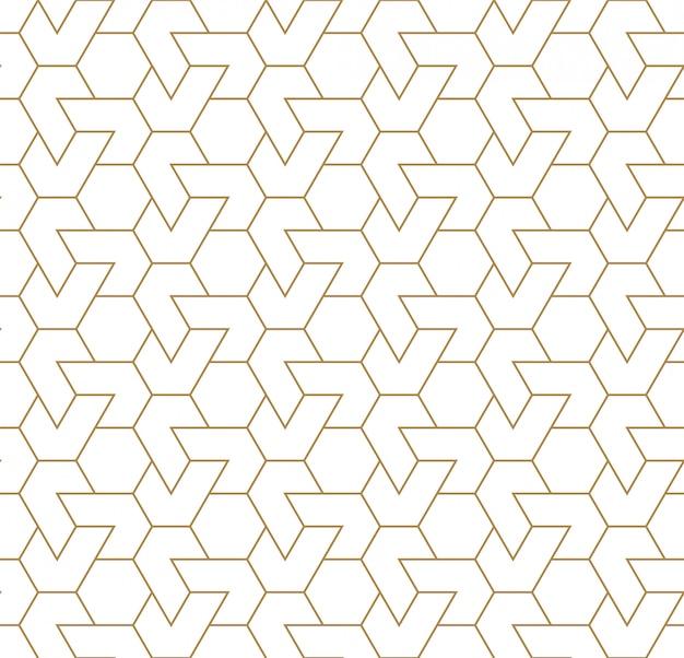 Sem costura ornamento geométrico árabe na cor marrom. linhas finas.