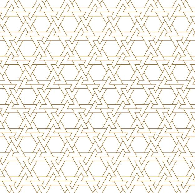 Sem costura ornamento geométrico árabe na cor marrom.
