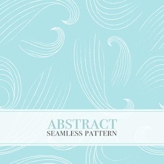 Sem costura padrão abstrato com ondas.