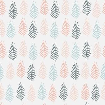 Sem costura padrão abstrato ramos de plantas sobre um fundo claro. para impressão em têxteis, papel de parede, papel de embrulho. impressão minimalista original. ilustração vetorial.