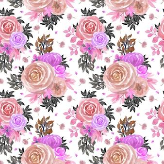 Sem costura padrão floral com rosas