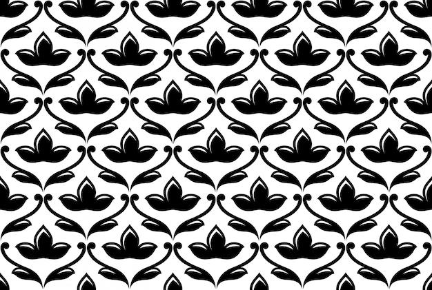 Sem costura padrão floral étnica