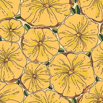 Sem costura padrão floral. ilustração vetorial com flores.