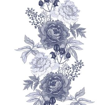 Sem costura padrão floral.