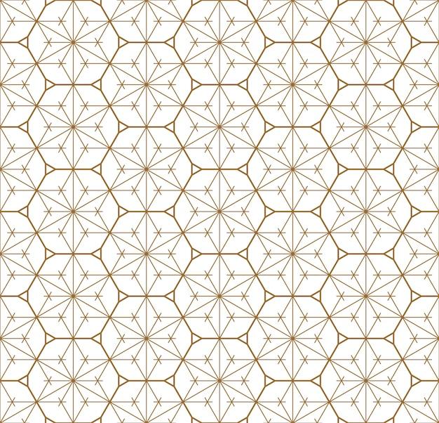 Sem costura padrão geométrico baseado no ornamento japonês kumiko.