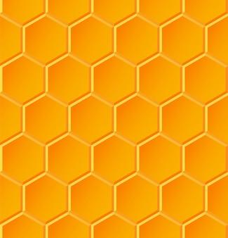 Sem costura padrão geométrico com favos de mel