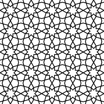Sem costura padrão geométrico em preto e branco.