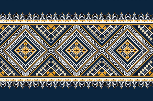 Sem costura padrão geométrico étnico. design para plano de fundo, tapete, papel de parede, roupas, embrulho, batik, tecido, estilo de illustration.embroidery do vetor.