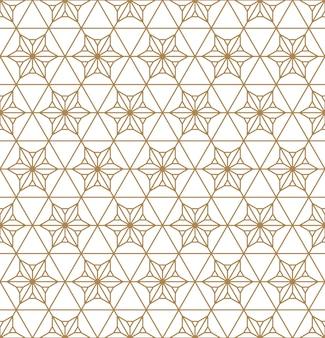 Sem costura padrão geométrico kumiko.