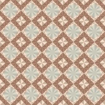 Sem costura padrão geométrico marrom