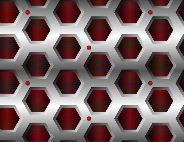 Sem costura padrão hexagonal