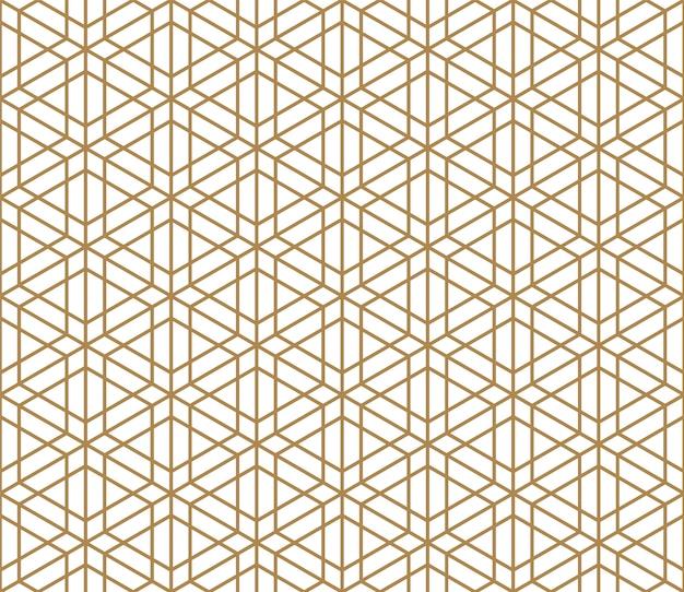 Sem costura padrão kumiko tradicional