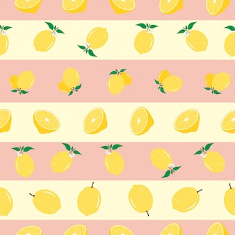 Sem costura padrão listrado de limão
