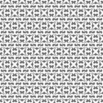 Sem costura padrão monocromático em estilo árabe