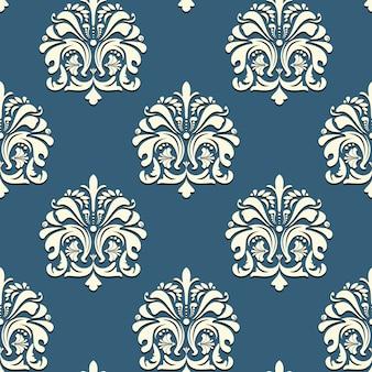 Sem costura padrão oriental em fundo azul.
