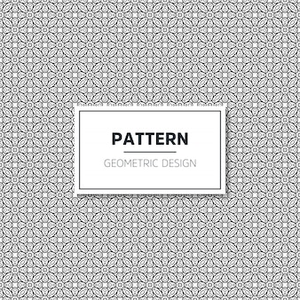 Sem costura padrão preto e branco geométrico