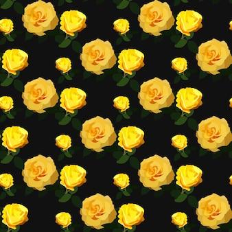 Sem costura padrão rosa floral fundo floral design de flores vintage