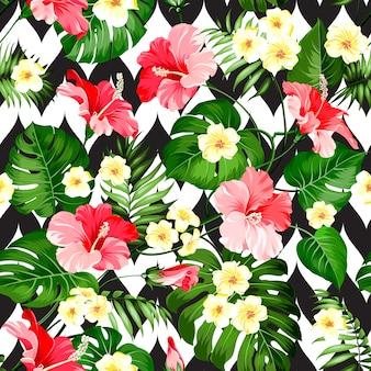 Sem costura padrão tropical