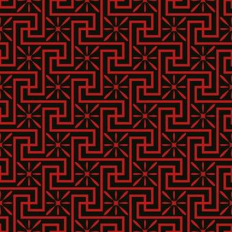 Sem costura vintage chinês janela rendilhado espiral cruz padrão de fundo preto.