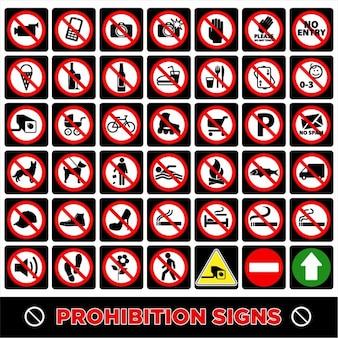 Sem sinais símbolo de proibição