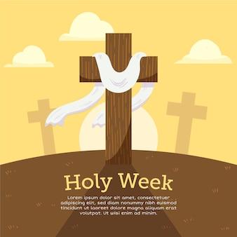Semana santa de design de mão desenhada