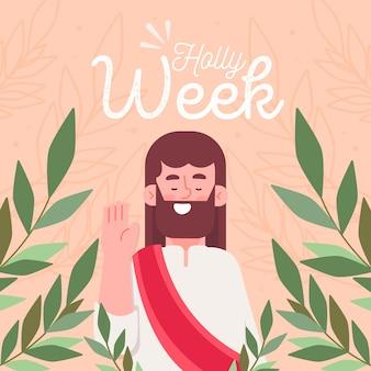 Semana santa de design plano