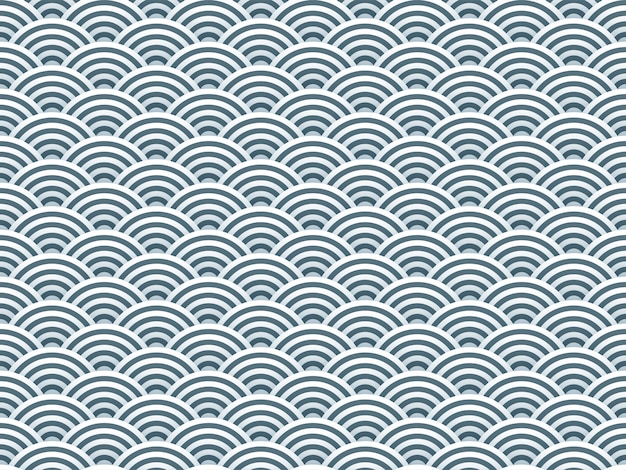 Semi círculos simples 3d padrão sem emenda