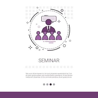 Seminar consulting help banner de apoio ao negócio